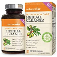 NatureWise Herbal Detox Cleanse Laxative Supplements | Natural Colon Cleanser Herb...