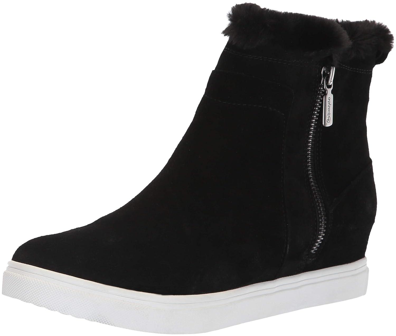 Black Suede Blondo Womens Glade Sneaker