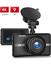 $89 » TOGUARD 4K UHD Dash Cam Built-in GPS Dashboard Camera Recorder 3'' LCD 170° Wide Angle Car Dash Camera with Night Vision, 24Hs Parking Mode, G-Sensor, Time Lapse