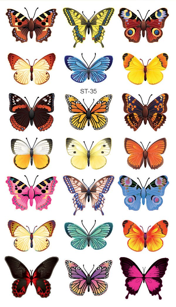 king horse small butterfly tattoo stickers waterproof sexy glamorous health. Black Bedroom Furniture Sets. Home Design Ideas