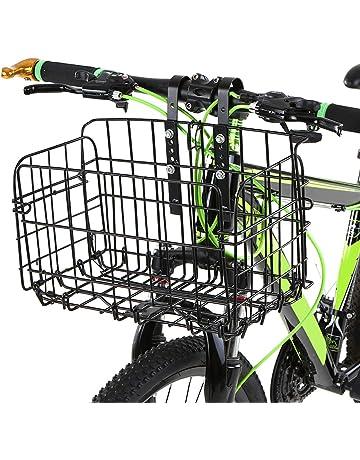 Lixada Bicicleta Cesta Delantera Bicicleta Manillar Basket Cesta para Bicicletas de Montaña