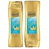 Suave Professionals Moroccan Infusion SHINE 12.6oz (373ml) - 2 Bottle Set: Shampoo and Conditioner
