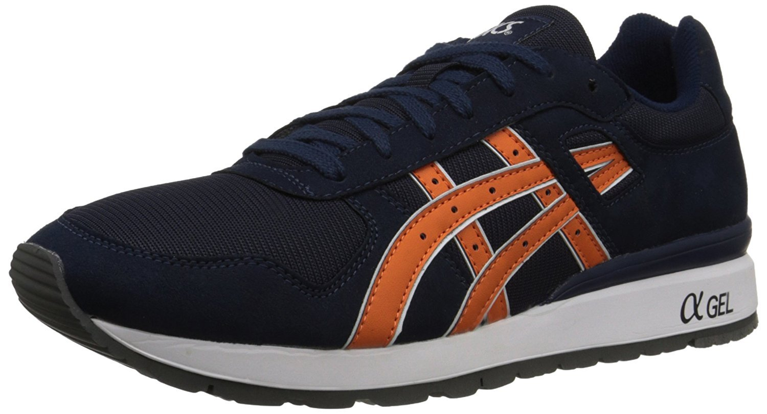 ASICS GT II Retro Sneaker B071ZC761X 8 D(M) US / 40-41 EUR|Navy / Orange