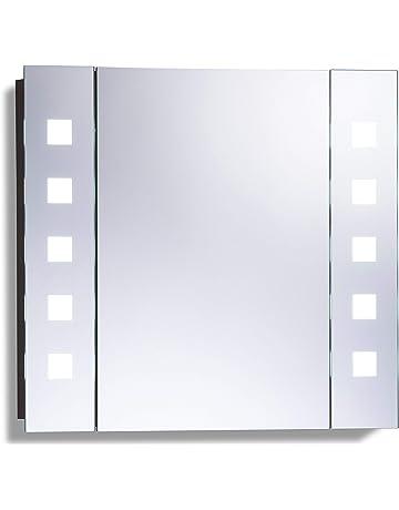 Genial Armoire De Toilette Pour Salle De Bain Avec Miroir Lumineux, Antibuée,  Prise Pour Rasoir