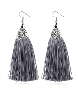 Bijoux Femmes, Toamen Boucles d'oreilles Boucles d'oreilles pompon Magnifiques bijoux strass Rétro Mode (F)