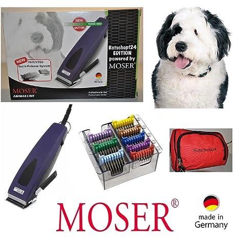 Rotschopf24 Edición: Moser Esquiladora REX1233 Ajustable + 8 metal - peines Sucherelektronischer. Sistema de