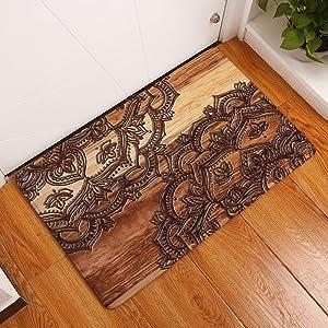 Carpet Rug Geometric Flowers Printed mat Doormat Digital Printing Ottomans Kitchen Absorbent Non-Slip mat Modern Minimalist Personality Fashion European Design Pattern (Size : 4060cm, Style : 5)