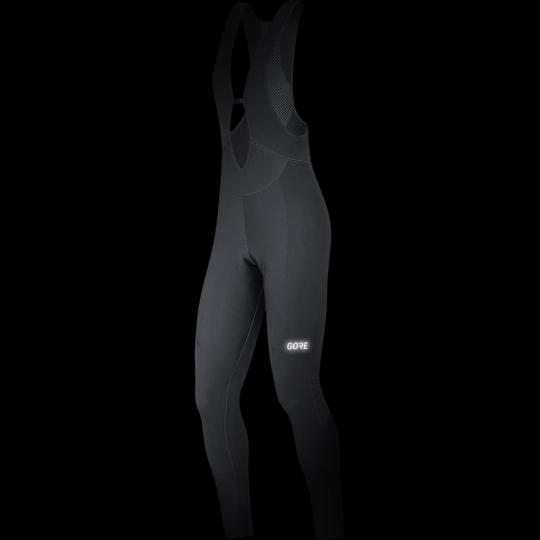GORE Wear Salopette traspirante da donna 36 Con fondello Nero 100329 C3 Women Thermo Bib tights+