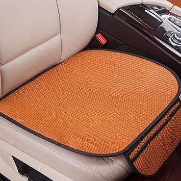 Glitzfas Auto Sitzauflage Autositzauflage Universal Sommer Autositzbezug Auto Vordersitz Rücksitz Kissen Vordersitz Orange Auto