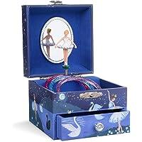 Jewelkeeper - Joyero Musical de niña con una Bailarina y un cajón extraíble, diseño con Brillo - Melodía del Lago de los…