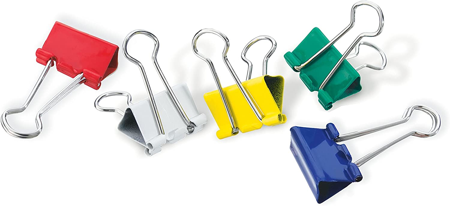 Black Officemate OIC Small Binder Clips 12 in a Pack 31085