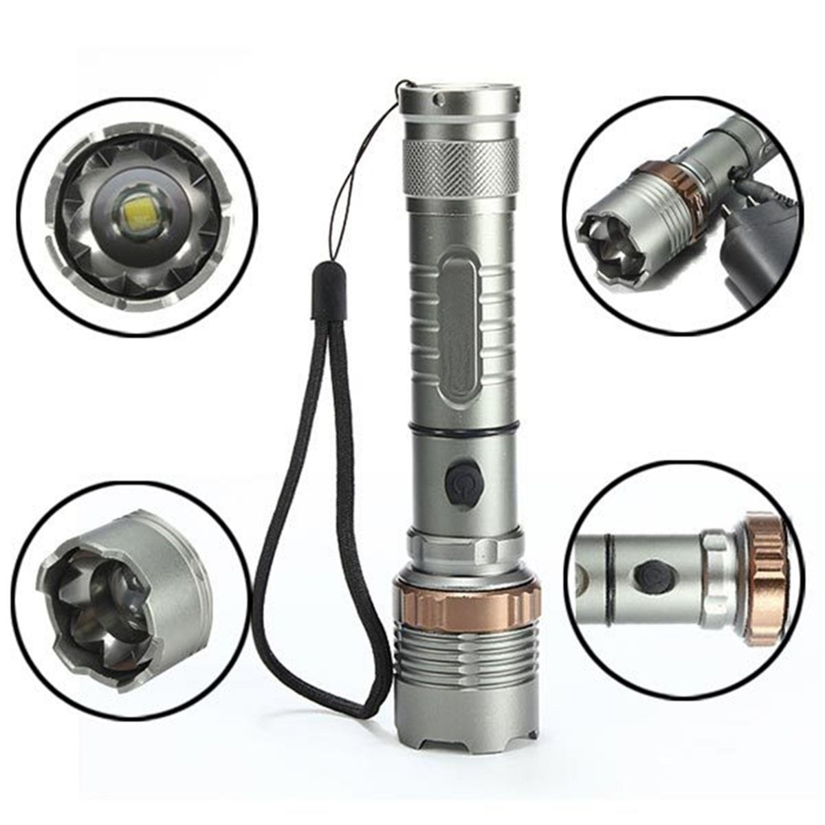 10000Lumens T6 Zoomable Tactical LED 18650 Flashlight Torch Lamp Taschenlampen