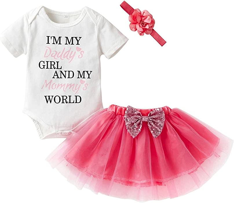 e63ae9d3924f Webla Newborn Infant Baby Girl Letter I m My Daddy s Girl and My ...