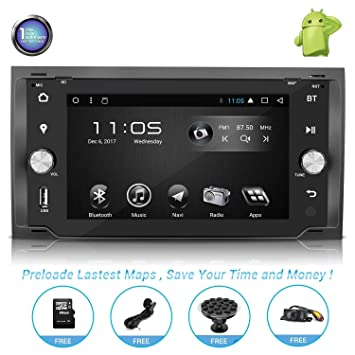 Android Car Stereo with Navigation-7 Inch Touch Screen Double Din Car  Stereo with Bluetooth 183382220ae9