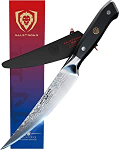 "DALSTRONG Fillet Knife - Shogun Series -Damascus - Japanese AUS-10V Super Steel - Vacuum Heat Treated - 6"" - Sheath - 2mm Thickness"
