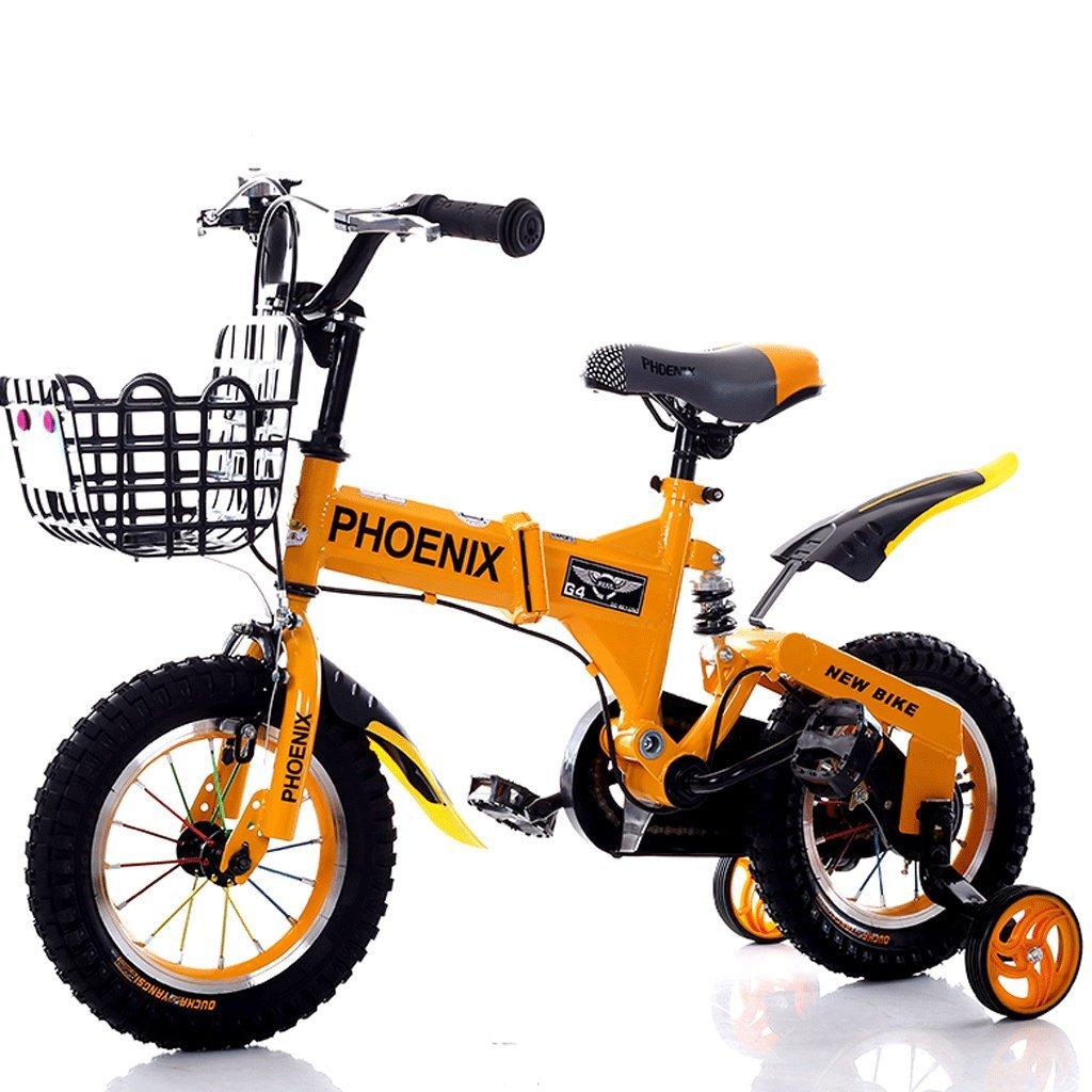 DGF 子供の自転車2-12歳の赤ん坊の子供の自転車の男性と女性のショックアブソーバーの赤ちゃんの車 (色 : Orange, サイズ さいず : 14 inches) B07F2W18DN 14 inches|Orange Orange 14 inches