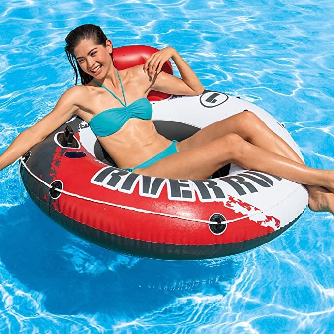 Intex 56825EU - Rueda hinchable River Run 135 cm diámetro roja ...