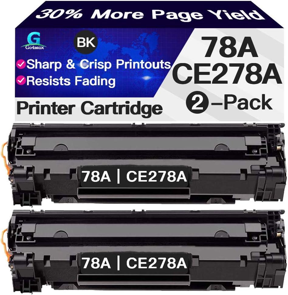 Go4max Compatible 2-Pack 78A CE278A Toner Cartridges for HP Laserjet Pro M1536dnf P1606dn P1606n P1566 M1538dnf M1537dnf M1539dnf Printer (Black)