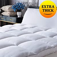 King Mattress Topper Cooling Pillow Top Mattress Bed Topper, Fluffy Mattress Pad, Hotel Quality Down Alternative Pillow…