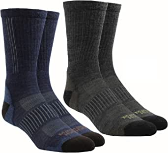 (2-Pack) Mattie & Huck Everyday Outdoor Adventure Socks Merino Wool Blend MADE IN USA Gray/Navy