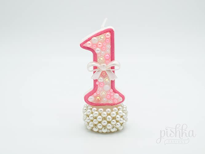 Pink Birthday Cake Candle
