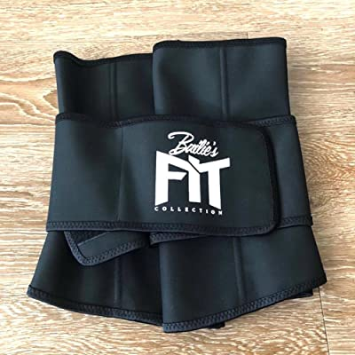 Bailies Fit Waist Trimmer - Adjustable Ab Sauna Belt to shed The Excess Water, Weight and Tone of mid Section, Abdominal Muscle & Back Supporter for Women, Black