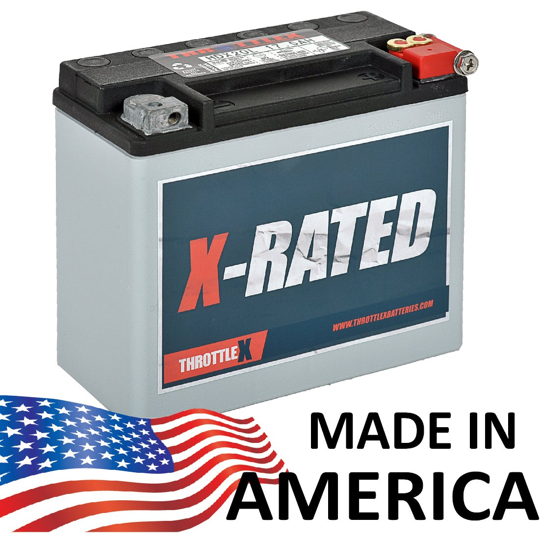 HDX20L - Harley Davidson Replacement Motorcycle Battery. by ThrottleX Batteries