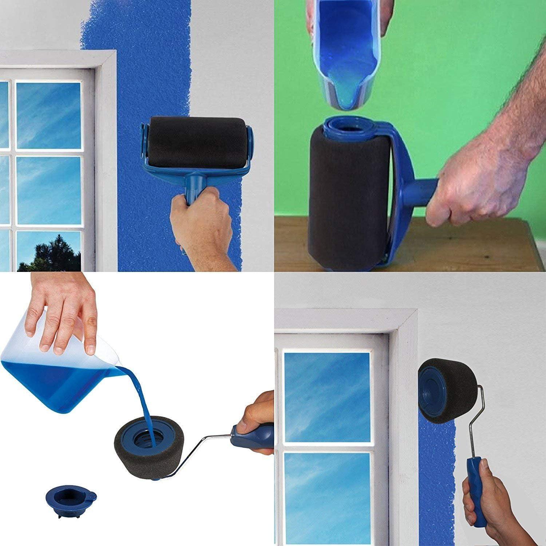 Funmo pincel para esquinas Juego de pintura para paredes en casa y en el jard/ín pincel Rodillo para pintar Paint Runner Pro con dep/ósito