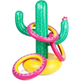 Sunnylife Cactoss Inflatable Cactus Shaped Ring Toss Beach or Pool Toy, Great Game for Kids and Adults