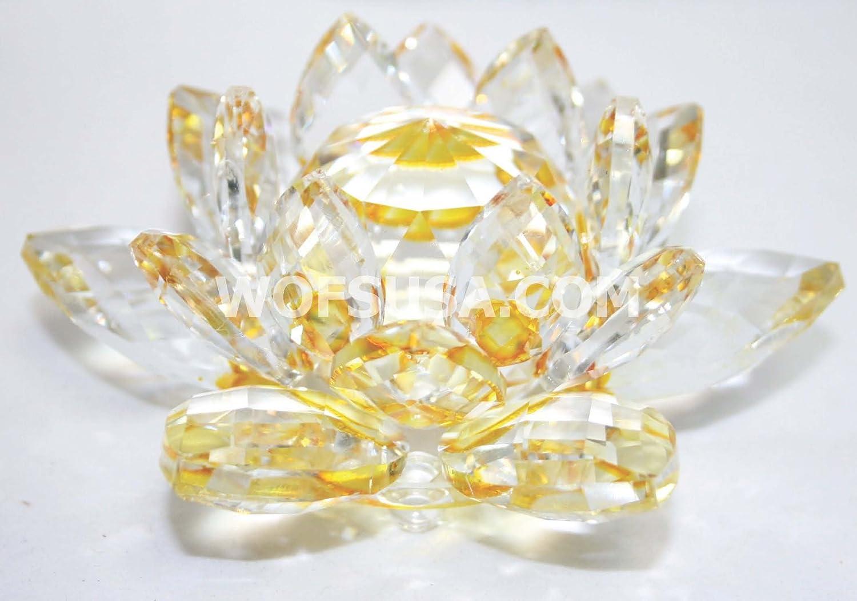 Amazoncom Rainbow Crystal Lotus Flower Feng Shui Home Decor 3 X 3