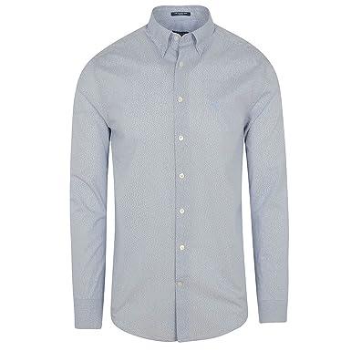 9bf72e95 Gant Mini Flower Print Regular Fit Shirt in Blue: Amazon.co.uk: Clothing