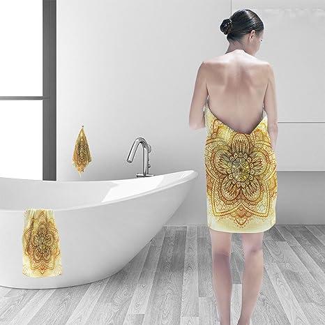 Juego de toallas de baño Nalahomeqq Tranquil para jardín con diseño de árboles de cerezo y ...