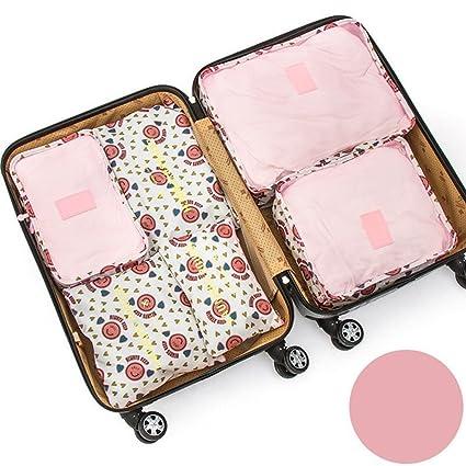 Pack de 6 bolsas impermeables para almacenar ropa Rosa Pink Smile