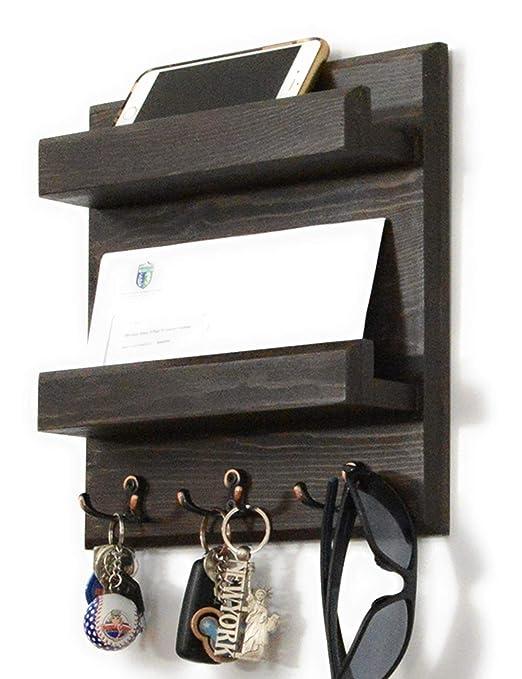 woodymood elegante organizador de pared estante perchero de ...