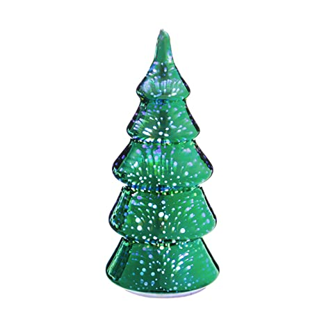 Evergreen Stargazing Green Starburst 9-inch LED Glass Christmas Tree Statue - Evergreen Stargazing Green Starburst 9-inch LED Glass Christmas Tree
