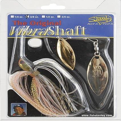 Stanley VibraShaft Spinnerbait, Silver/Gold, 3/8-Ounce