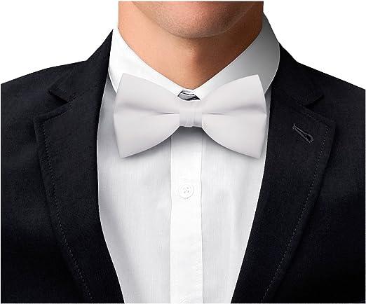 color blanco OM3TM F-06 boda hecha a mano carnaval Pajarita blanca unisex para hombre negocios fumar