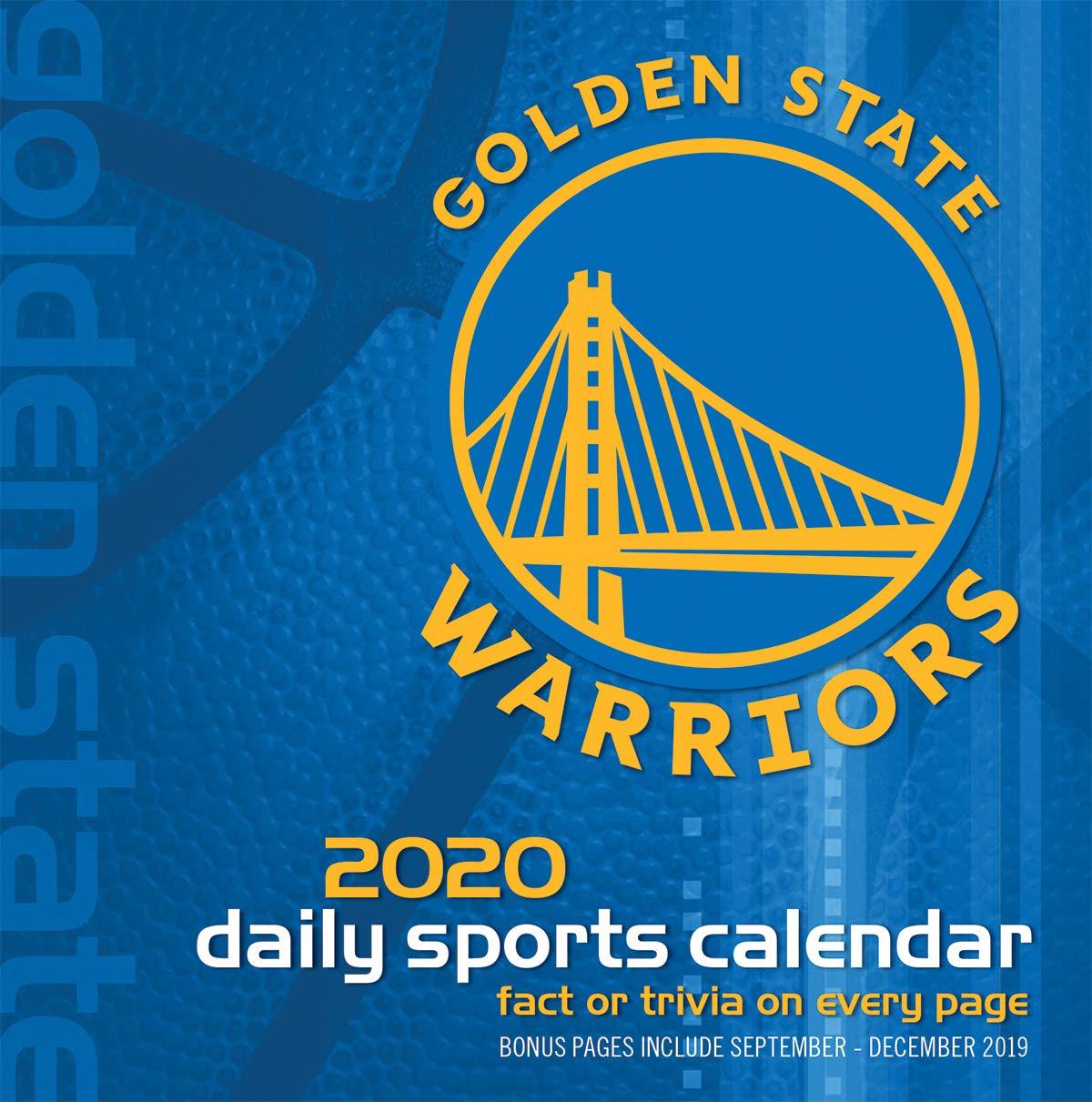 Warriors Schedule 2020.Amazon Com Turner Licensing 2020 Golden State Warriors