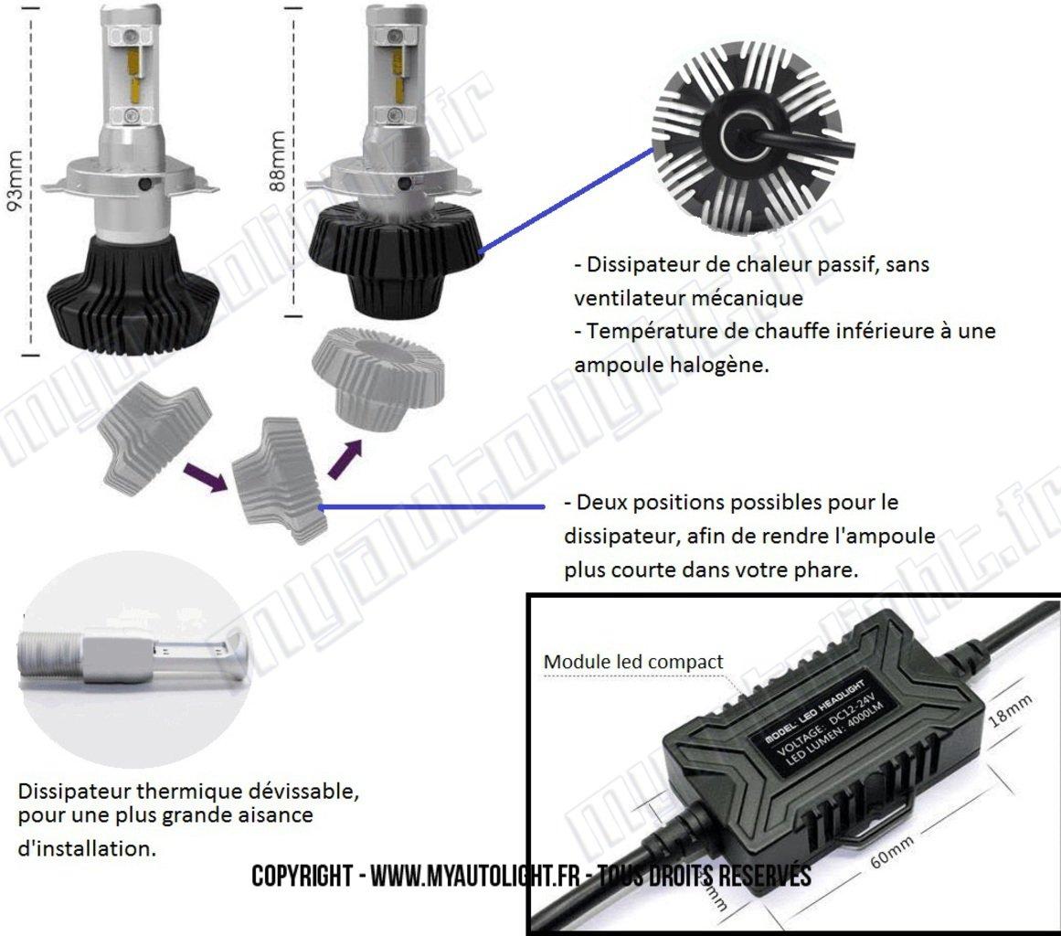 Kit de bombillas LED de alto rendimiento para faros H7 para Seat León 3: Amazon.es: Coche y moto