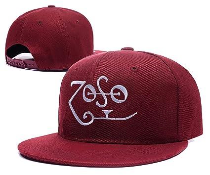 XINMEN Led Zeppelin Band Logo Adjustable Snapback Embroidery Hats Caps -  Red at Amazon Men s Clothing store  e1f87bd3afa2