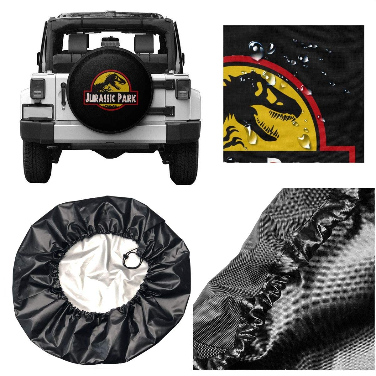 SWIO SOWJI Tire Cover Jurassic Park Spare Tire Cover