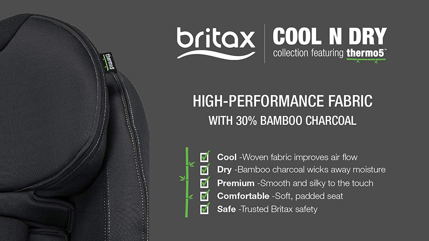 Britax Endeavours Cool N Dry Infant Car Seat Grey