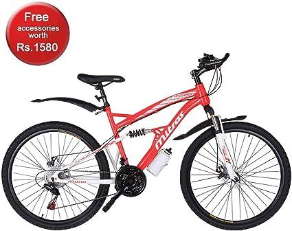"""Men/'s Mountain Bike 26/"""" 18 Speed Frame Bicycle Shimano Dual Full Suspension NEW"""