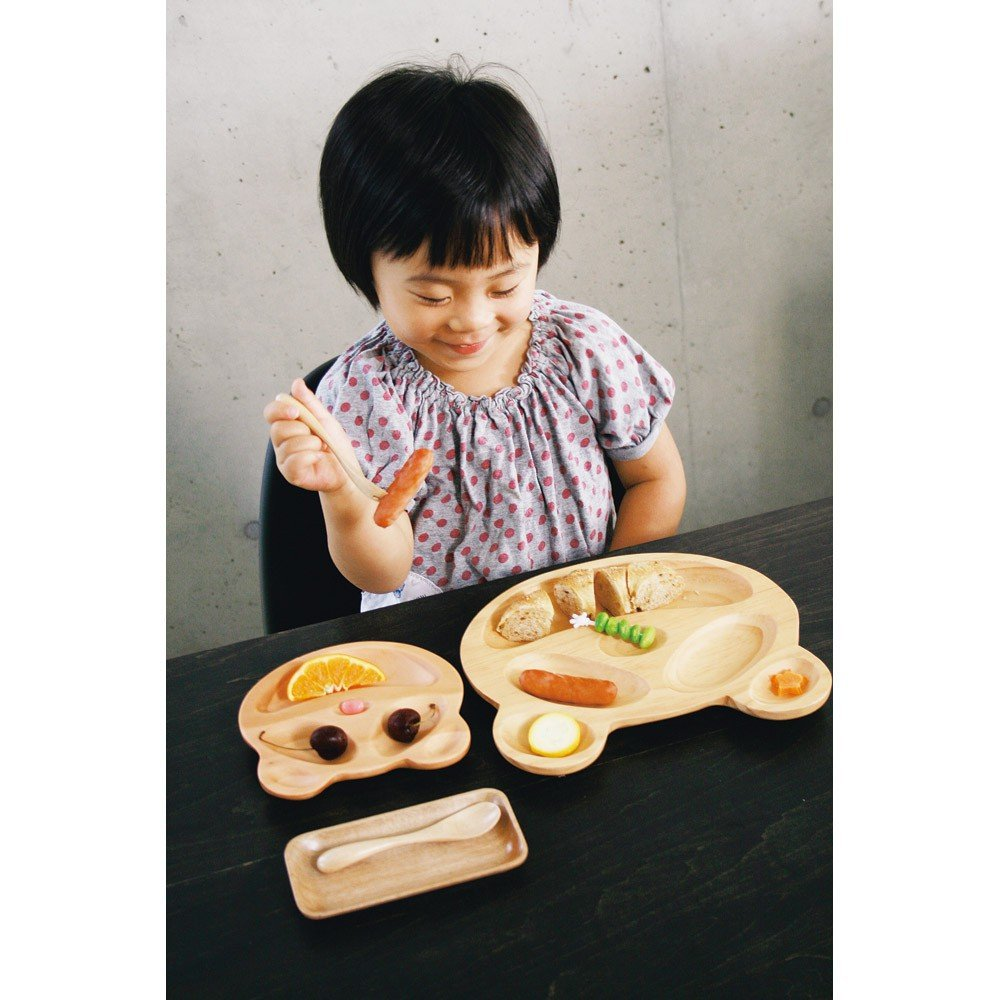 Time Concept Kids Petits Et Maman Wooden Car Jr. Plate - Eco-Friendly, Handcrafted Dinnerware by Time Concept (Image #2)