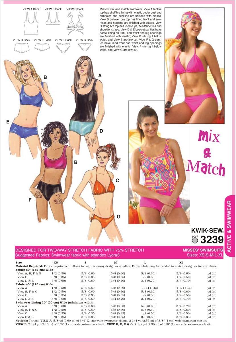 XS-S-M-L-XL Kwik Sew K3239 Badeanz/üge Gr