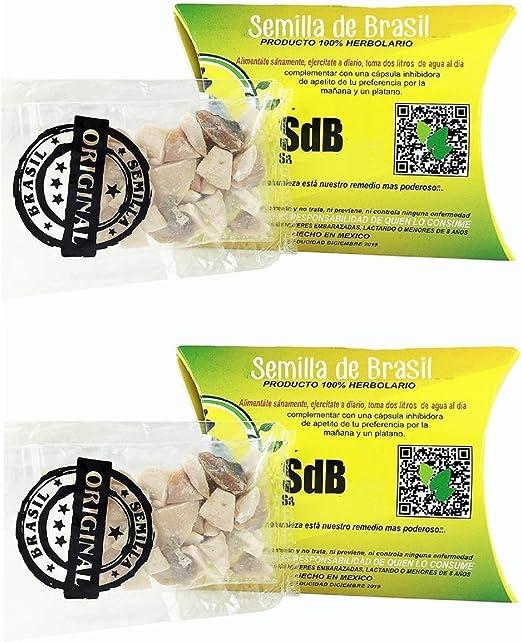 Semilla De Brasil 2 Unidades 100 Original Auténtico Natural 60 Días Suministro Health Personal Care