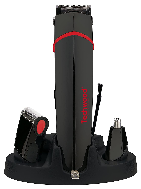 Techwood TTN-600 - Kit para afeitado corporal, color negro y rojo ...