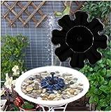 Rcool Outdoor Solar Powered Bird Bath Water Fountain Pump Solar Sprinkler Fountain for Pool Garden Aquarium