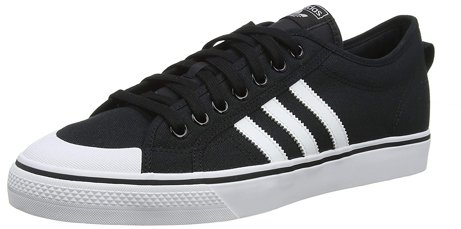 finest selection 29da4 85000 Amazon.com   adidas Nizza Mens Trainers Black White - 11 UK   Fashion  Sneakers