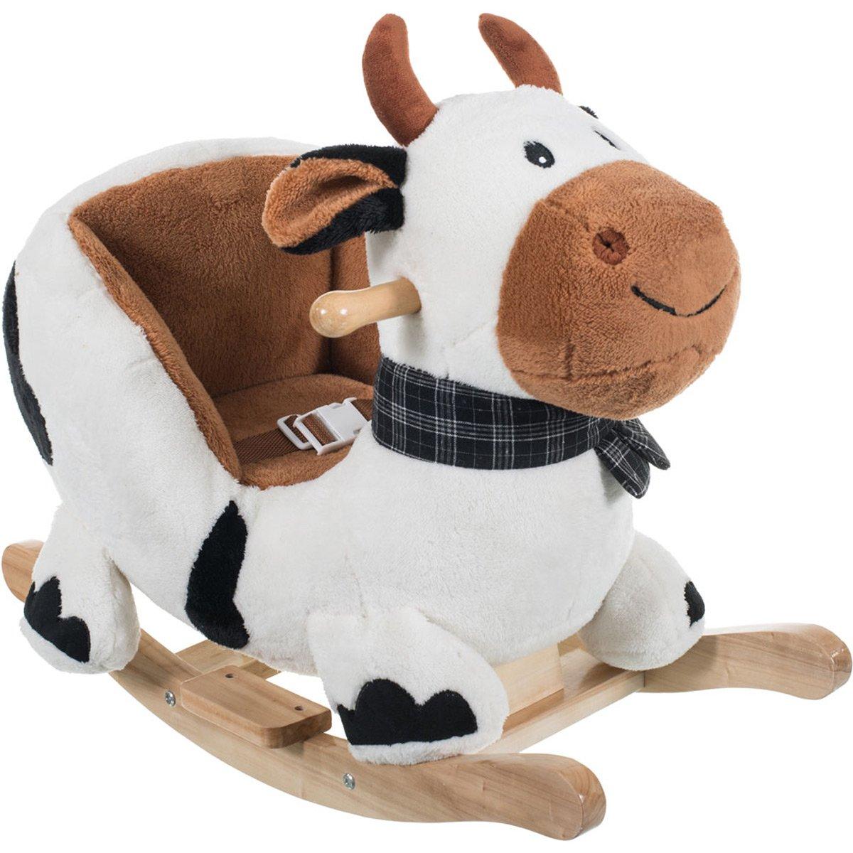 Schaukel Kuh Schaukelpferd Kuh Kinder Schaukeln: Baby Schaukelpferd Plüsch Tier Schaukeltier Holz Schaukel Wippe
